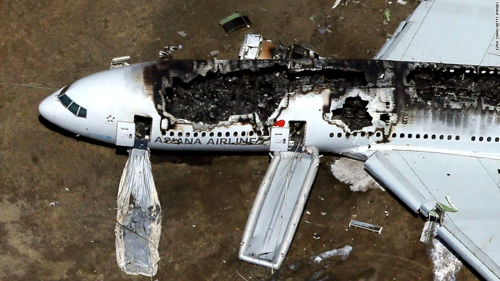"<a href=""http://www.cnn.com/2013/07/06/us/gallery/san-fransisco-plane-crash/index.html"">Asiana Airlines Flight 214</a> crashed at San Francisco International Airport on July 6, 2013. The South Korean airline's Boeing 777 fell short of its approach and crash-landed on the runway. Three people were killed and more than 180 were injured."