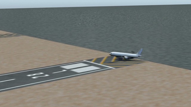 Animation recreates 777 crash landing