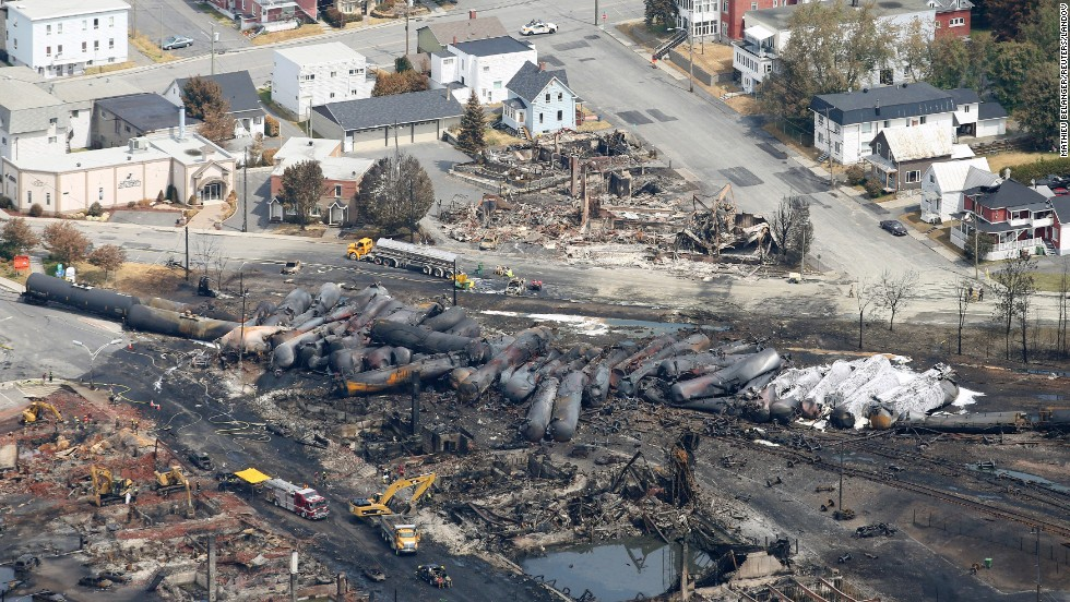 "<strong>Deadly train derailment: </strong>At least 38 people were killed and 37 are still missing in the small town of Lac Megantic, Quebec, where a <a href=""http://www.cnn.com/2013/07/08/world/americas/canada-runaway-train/index.html?hpt=hp_c3"">runaway train exploded in the downtown district</a> on Saturday, July 6, 2013. Police suspect that some of the victims were vaporized in the explosion. Look back at some of the worst industrial disasters in modern history:"