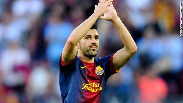 Spain striker David Villa arrived at Barcelona in 2010 from Valencia.