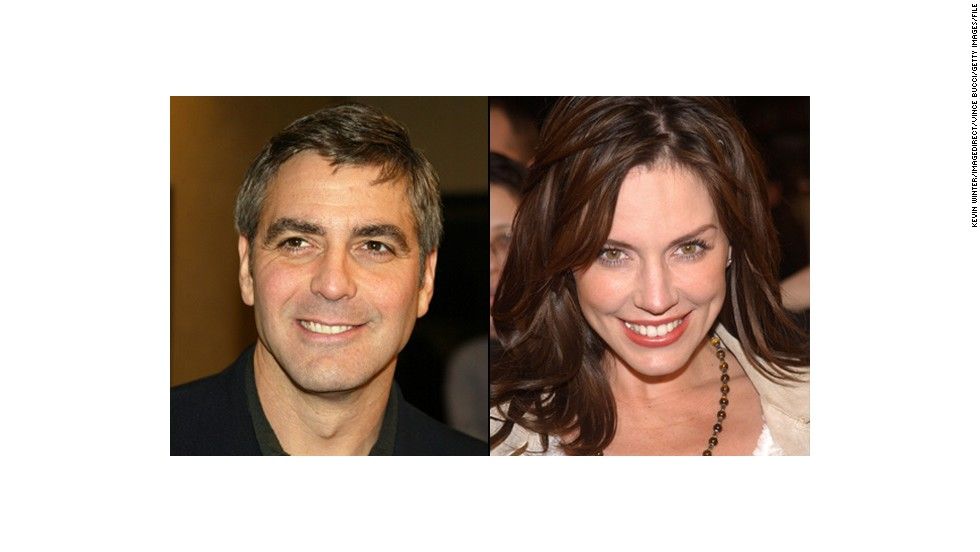 "<strong>Krista Allen:</strong> Clooney fell for ""Baywatch"" actress Krista Allen in 2002. They met on the set of Clooney's directorial debut, ""Confessions of a Dangerous Mind,"" and reportedly dated on and off until around 2008."