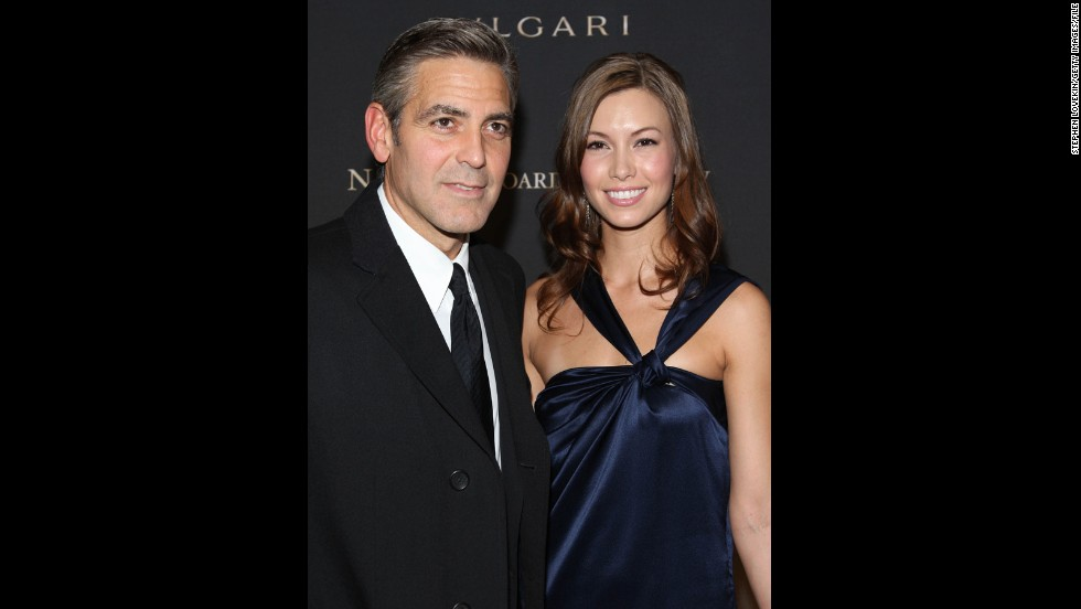 "<strong>Sarah Larson</strong>: Clooney and Sarah Larson started dating in 2007, but the romance was comparatively short-lived. Although their affair <a href=""http://www.people.com/people/article/0,,20058283,00.html"" target=""_blank"">survived a motorcycle accident</a> and a walk down the red carpet at the 2008 Academy Awards -- Larson being the first lady love of Clooney's to do so -- their relationship ended that May."