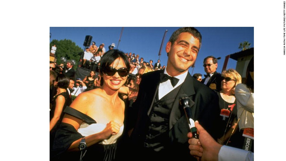 "<strong>Karen Duffy: </strong>Former MTV VJ Karen Duffy hooked Clooney in 1995, and while their romance didn't last, the friendship did. Duffy was spotted on a boat ride with <a href=""http://www.people.com/people/article/0,,20398271,00.html"" target=""_blank"">Clooney and then-girlfriend Canalis in 2010. </a>"