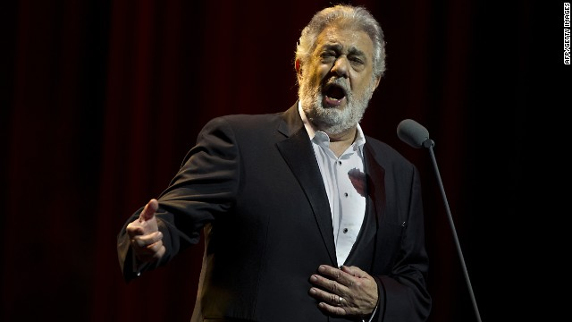 Spanish tenor Placido Domingo, seen here in a concert in June, is hospitalized for a blood clot in his lung.