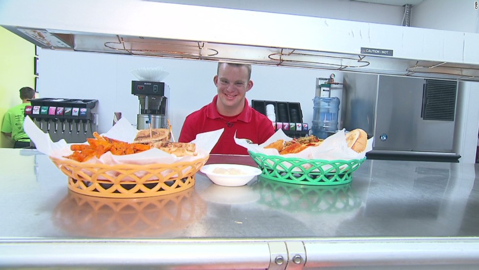 "Tim Harris, who has Down syndrome, always dreamed of owning his own business. His restaurant serves breakfast, lunch and hugs. <a href=""http://www.cnn.com/2013/07/10/health/human-factor-harris/index.html"">Read more</a>."