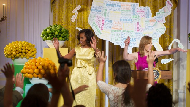 First lady dances at Kids' State Dinner