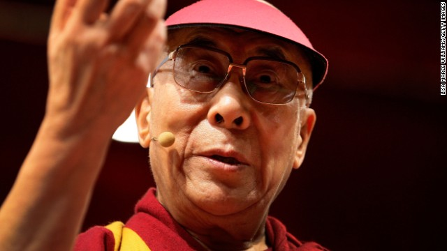 The Dalai Lama addresses guests during a public talk on June 16, 2013 in Sydney, Australia.