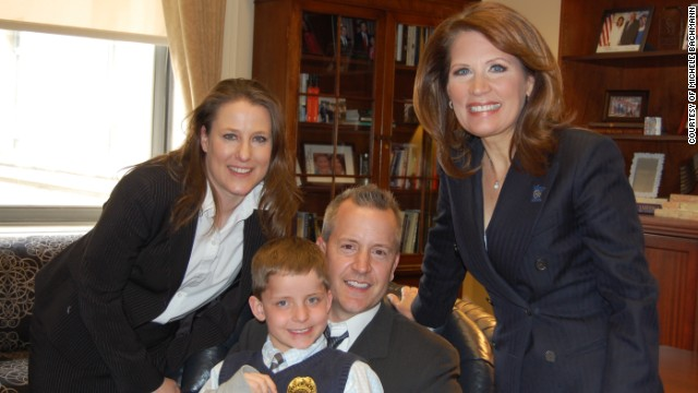 Jack, with his family and Rep. Michele Bachmann.