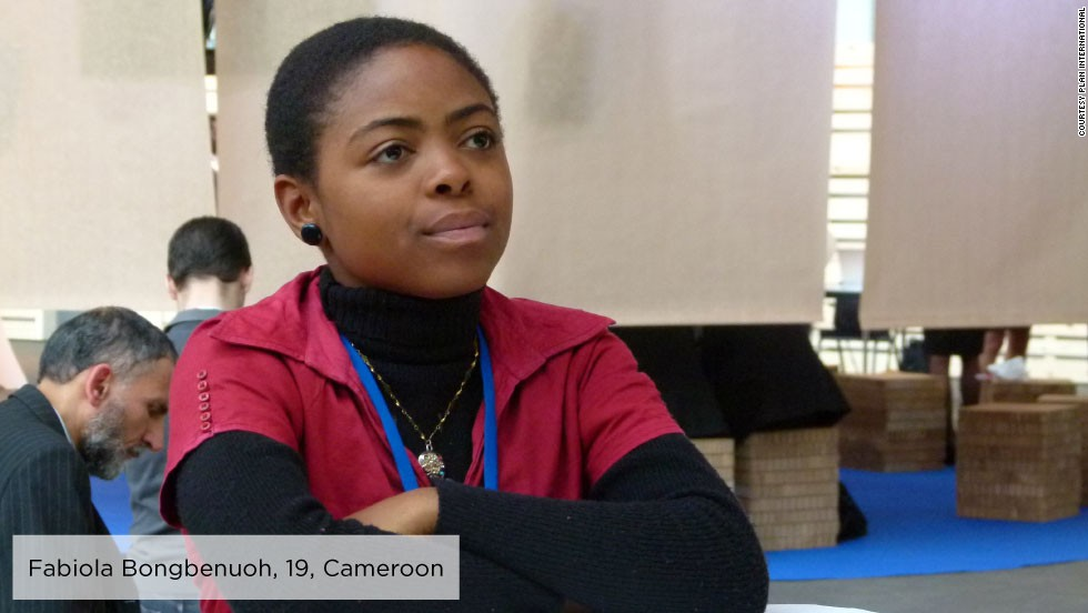 "As a secondary school student in rural Cameroon, Fabiola, 19, became a member of <a href=""http://plan-international.org/where-we-work/africa/cameroon"" target=""_blank"">Plan Cameroon's </a>Youth Empowerment through Technology, Arts and Media project, producing youth media to raise awareness around gender issues and help girls' access their rights.<br /><br />In 2011, she participated in the 55th Session of the Commission on the Status of Women and was inspired to establish Girls on the Front (G-Front), an association that aims to ensure girls have more opportunities to promote and defend their rights locally, nationally and internationally."