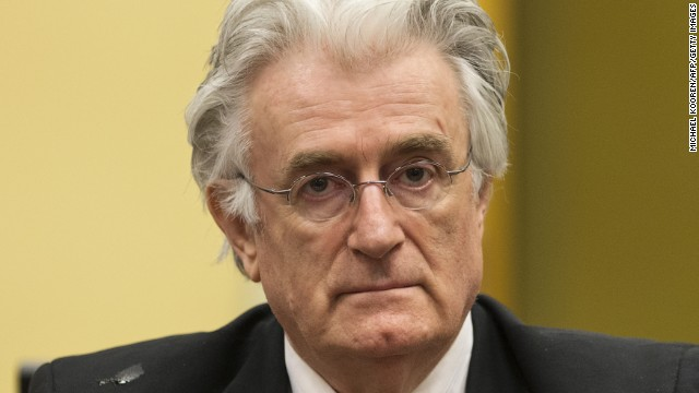 Radovan Karadzic appears at the International Criminal Tribunal for Former Yugoslavia in The Hague on July 11.