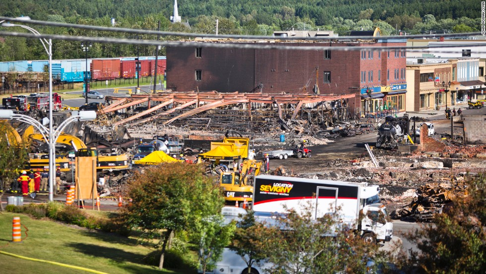 The wreckage of downtown Lac-Megantic is a stunning sight. Residents say they are determined to come back from the disaster.