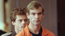 MILWAUKEE, WI - AUGUST 6:  Suspected serial killer Jeffrey L. Dahmer enters the courtroom of judge Jeffrey A. Wagner 06 August 1991. (Photo credit: EUGENE GARCIA/AFP/Getty Images)