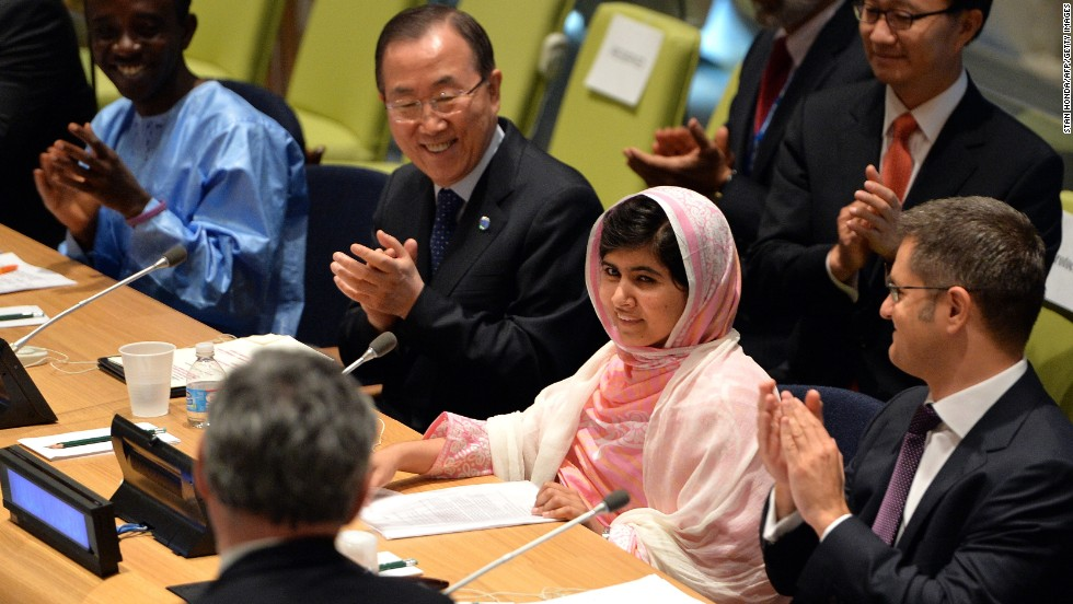 "JULY 12 - NEW YORK, U.S.: <a href=""http://cnn.com/2013/07/12/world/united-nations-malala/index.html?hpt=hp_c1"">Pakistani teenager Malala Yousafzai</a>, who was nearly killed by Taliban gunmen for advocating that all girls should have the right to go to school, gave her first formal public remarks at the United Nations on July 12. The U.N. has declared the date as ""Malala Day"", which will continue to host the U.N. Youth Assembly."