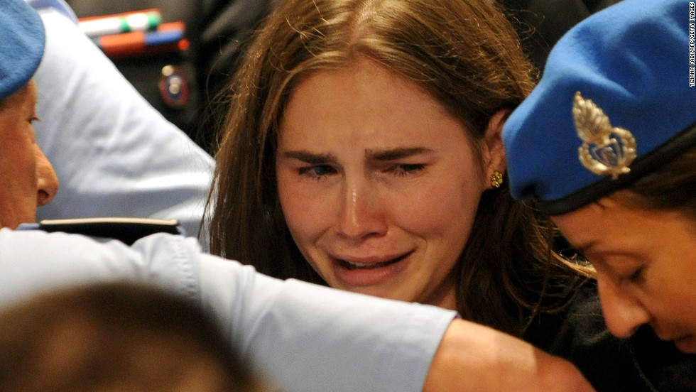 "<a href=""http://www.cnn.com/2011/10/03/world/europe/italy-knox-appeal/index.html"">Amanda Knox</a> reacts to the announcement of her acquittal in 2011. She had been serving a 26-year sentence after being convicted in 2009 of murdering fellow student Meredith Kercher. In 2013, Italy's Supreme Court ruled that Knox should stand trial in the case again. That retrial has begun, though Knox is not there: She decided to stay in the United States."