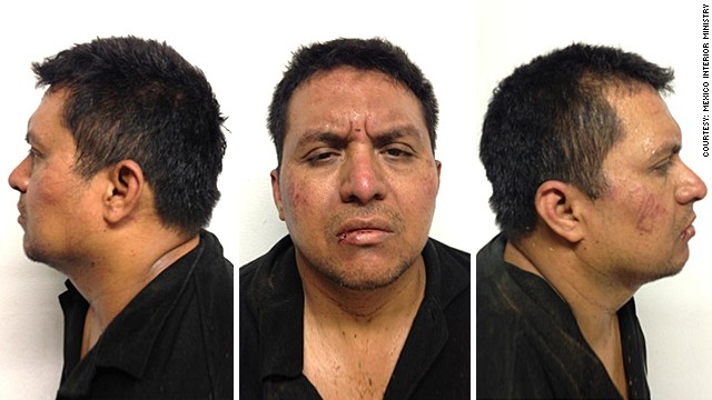 Mexico's Interior Ministry released these mug shots of Zetas cartel boss Miguel Angel Trevino Morales.