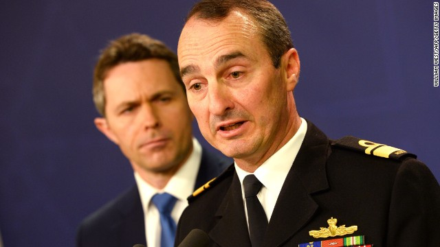 Royal Australian Navy's David Johnston (R) and Home Affairs Minister Jason Clare (L), spoke to the press on Wednesday.