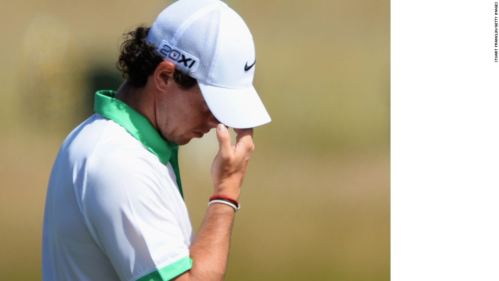 "World No. 2 Rory McIlroy described himself as ""brain dead"" and ""unconscious"" after shooting an eight-over-par 79 on day one of the British Open."