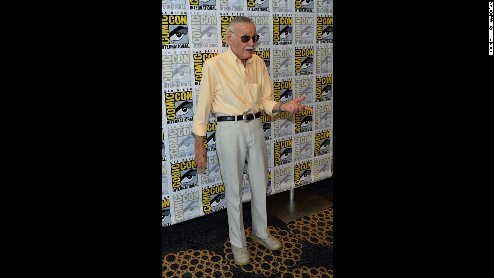 "Comic book icon Stan Lee attends his ""World of Heroes"" YouTube channel panel at the Hilton San Diego Bayfront Hotel on Friday, July 19. Lee's ""World of Heroes"" is a channel for all things related to the hero lifestyle and enthusiast culture according to the <a href=""http://www.youtube.com/user/worldofheroes"" target=""_blank"">""World of Heroes"" YouTube channel.</a>"