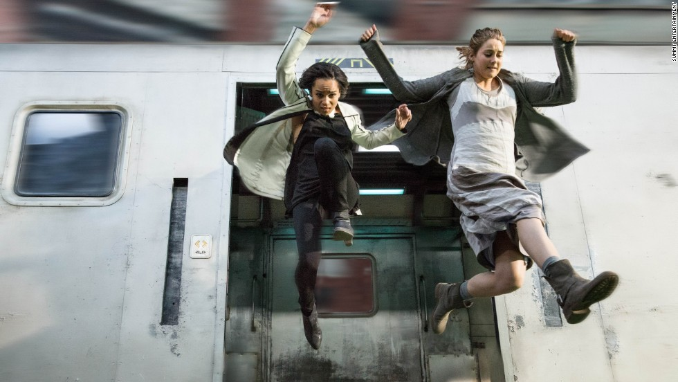 "An adaptation of Veronica Roth's bestselling first novel in her ""Divergent"" trilogy landed in theaters in March 2014, starring Shailene Woodley, right, as protagonist Tris Prior and Zoe Kravitz as Christina. The sequel ""Insurgent"" arrived in 2015, and ""Allegiant"" will be released in 2016."