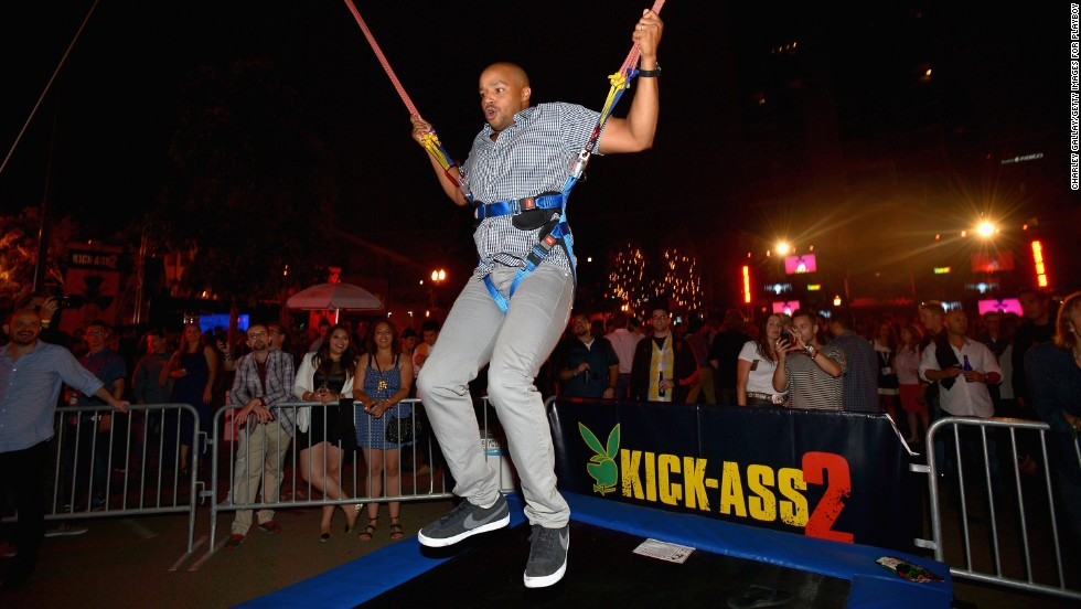 "Donald Faison attends the Playboy and Universal Pictures' ""Kick-Ass 2"" event on Friday, July 19."