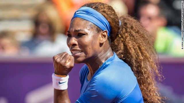 Serena Williams ticked off her 51st win of the season in Sweden