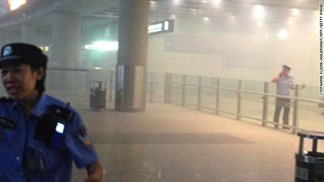 Explosives set off in Beijing airport