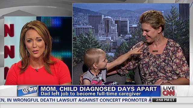 Mom and child diagnosed with cancer