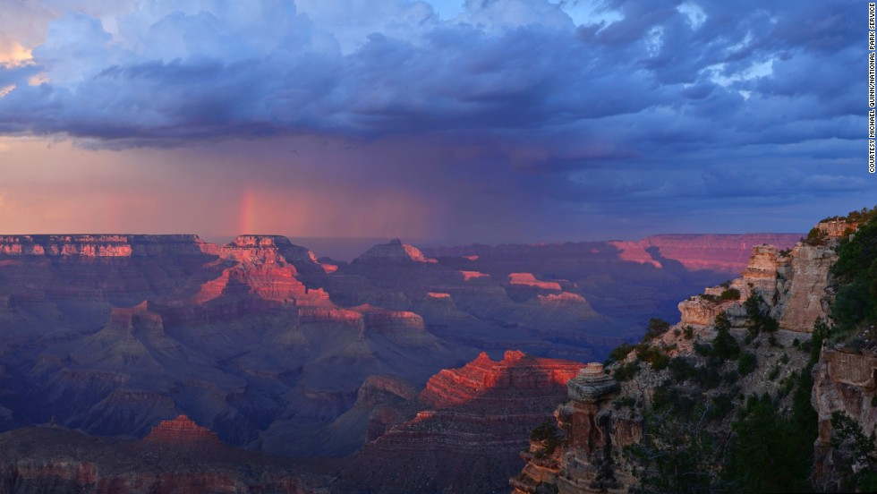 Arizona's Grand Canyon National Park nudged out last year's tenth place holder, the Delaware Water Gap National Creation Area, to claim the tenth place spot.