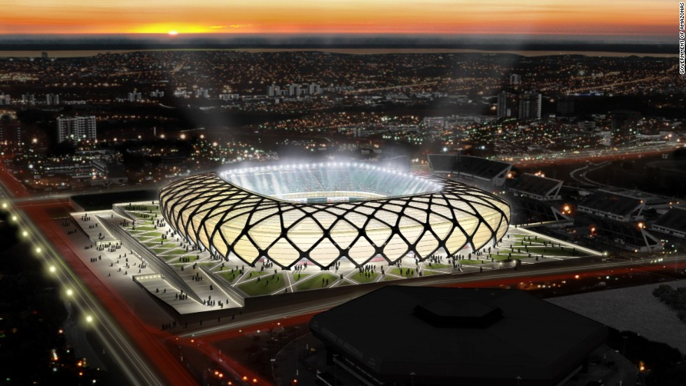 Arena da Amazonia - an artist's impression of what the stadium in Manaus will look like once complete.