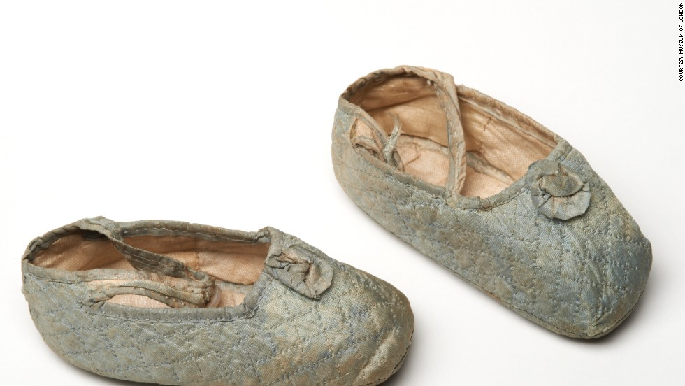 Princess Maud (her baby shoes shown here) was one of Queen Victoria's granddaughters. While British-born, she would later become Queen Consort of Norway.