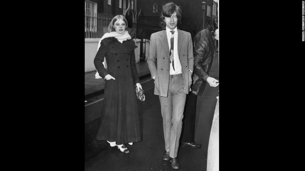 "But it seems the singer had a more simple reason for wearing his pants high and tight, as he did here in 1970 alongside his girlfriend at the time, Marianne Faithfull. ""I've always done a kind of skinny silhouette because I am skinny; I don't have to worry about covering up fat bits!"" he has previously told <a href=""http://www.wwd.com/fashion-news/fashion-features/sartorial-satisfaction-6501480?page=1"" target=""_blank"">Women's Wear Daily</a>. ""So you've got to emphasize your silhouette."""