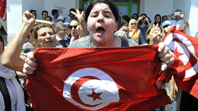 Assassination sparks protests in Tunisia