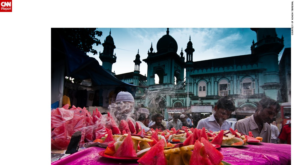 "This <a href=""http://ireport.cnn.com/docs/DOC-1010318"" target=""_blank"">colorful feast</a> of a photo was taken by Ashish Tibrewal in his native Mumbai, India, during Eid in 2009. ""Being a Hindu, I do not celebrate Eid myself but I visit my Muslim friends to greet them on Eid, and it's a great symbol of peace and brotherhood between different religions,"" he said."