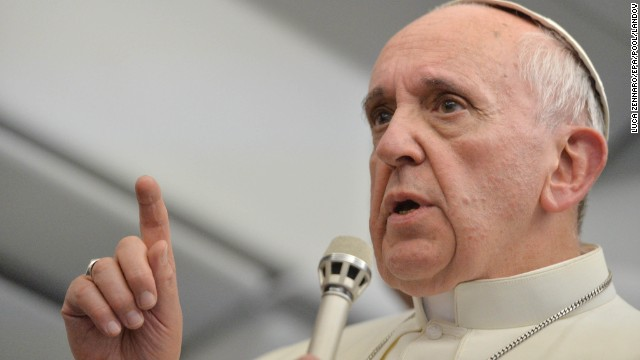 The Pope speaks on the flight.