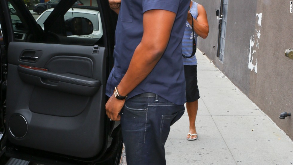 Jay-Z departs a Venice, California restaurant on July 28.