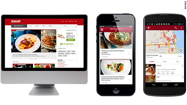 The new Zagat is free on the Web or on apps for iOS and Android.