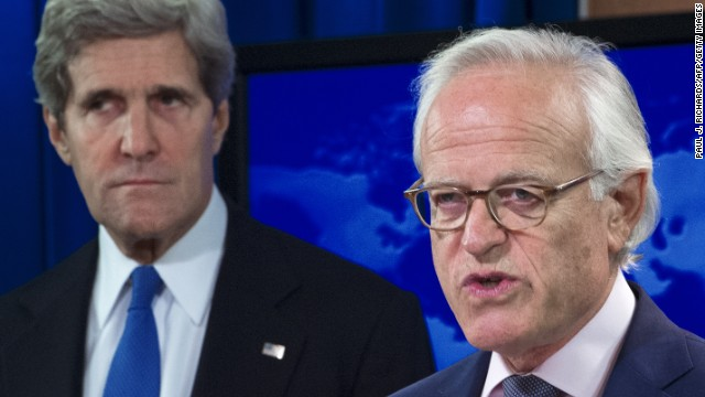 Secretary of State John Kerry, left, has named former U.S. Ambassador to Israel Martin Indyk to lead Israeli-Palestinian peace talks.