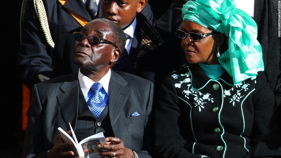 The Mugabes attend Pope Francis' inauguration Mass in March 2013.