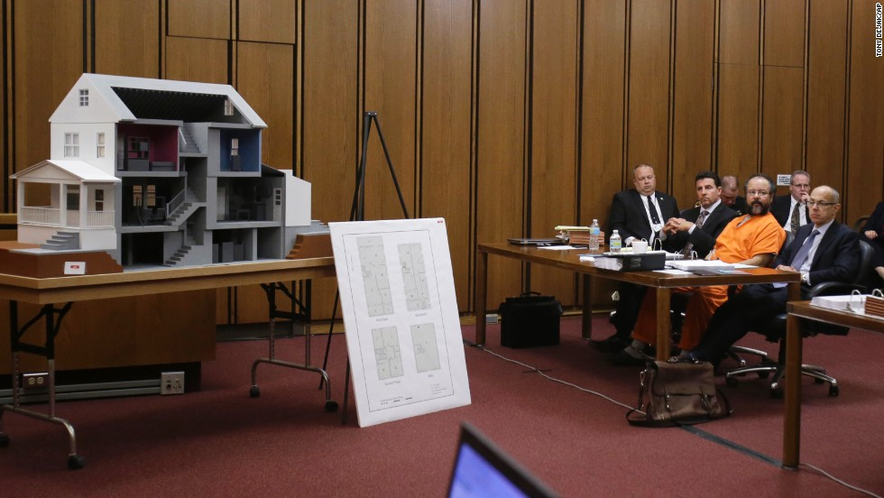Ariel Castro's sentencing for the kidnapping and rape of three women in Ohio will be issued Thursday, August 1. During the trial, the prosecution presented images from inside the house that reveal the disturbing conditions in which they were held. A model of the house was also included.