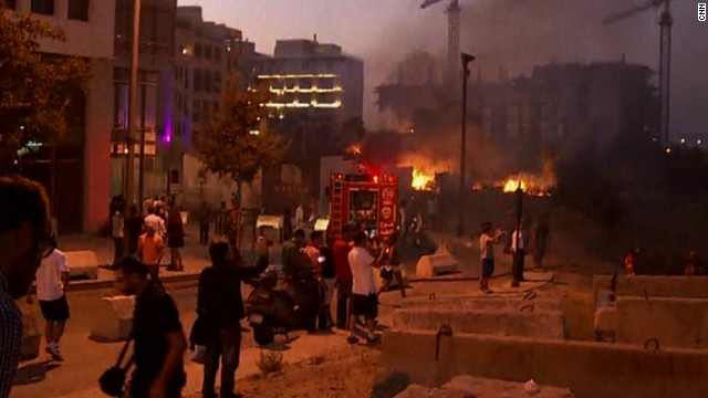 An unintentional fireworks explosion rocked downtown Beirut on Thursday