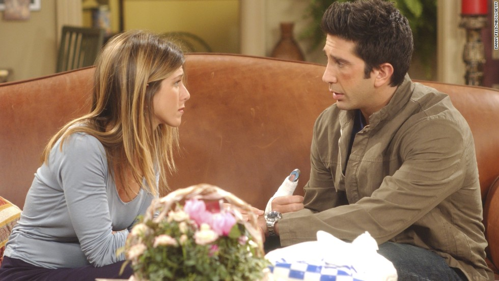 "Rachel Green, played by Jennifer Aniston, and Ross Geller, played by David Schwimmer, made the ultimate will they-won't they relationship for viewers. In 10 seasons of ""Friends,"" fans saw the couple get together and break up multiple times; they ultimately end up together."