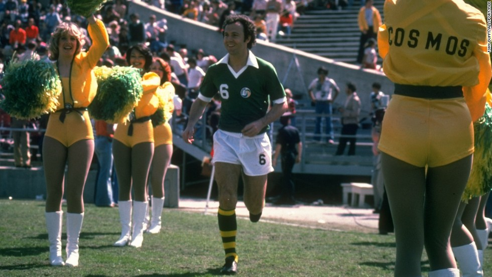 Franz Beckenbauer was captain of the West Germany team which lifted the 1974 World Cup. The Bayern Munich icon won three NASL Soccer Bowls with the Cosmos between 1977 and 1980.