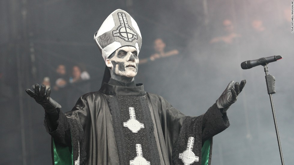 Papa Emeritus II of the Swedish band Ghost BC performs on August 2.