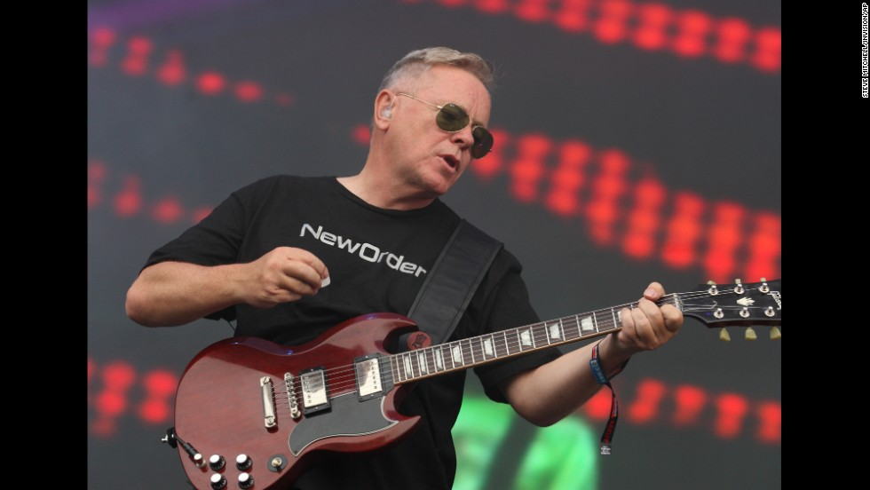 New Order's Bernard Sumner takes the stage on August 2.