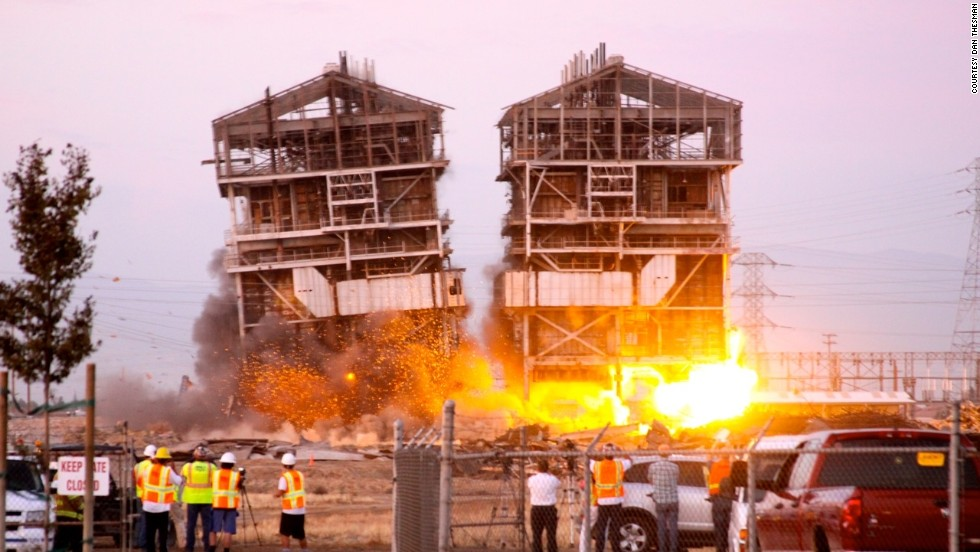 Three people were injured during a planned implosion at the Kern Power Plant in Bakersfield, California, early Saturday, August 3, police said.