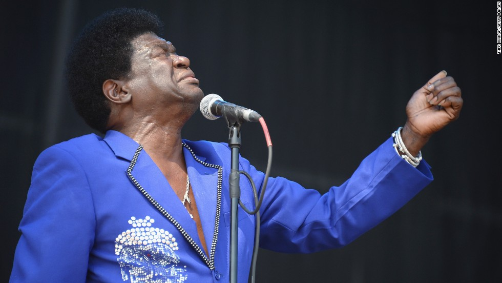 Charles Bradley closes his eyes during his performance on August 3.