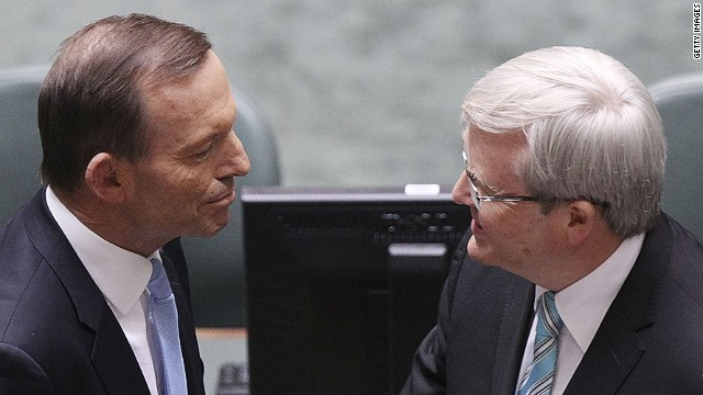 Tony Abbott (left) and Kevin Rudd are due to face off in election scheduled for September 7