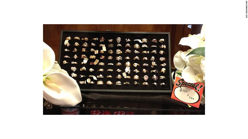 No ring? No problem! Viva Las Vegas has a wide selection, all priced at a bargain $150.
