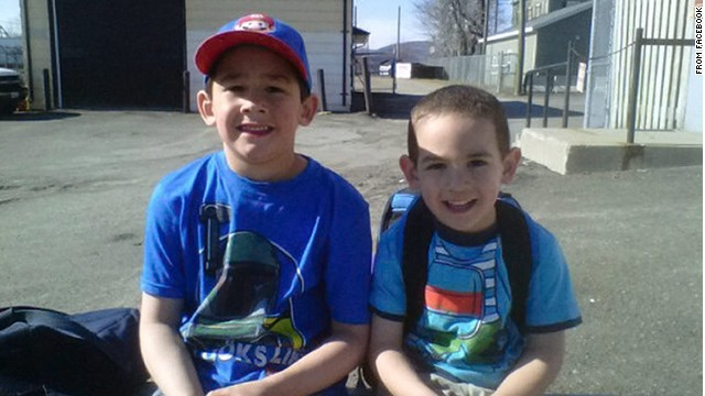 An image from Facebook shows the two boys killed by a snake at a pet store in Campbellton, New Brunswick, Canada.