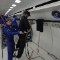 astronauts in an orbiting space shuttle experience a sensation of weightlessness because - photo #28